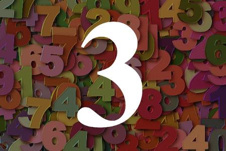 Numerología del número tres
