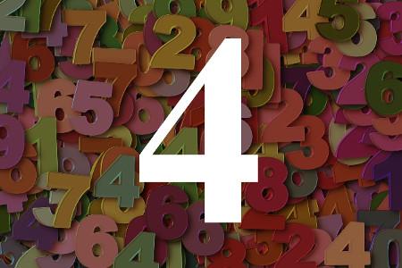Numerología del número cuatro