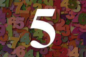 Numerología del número cinco
